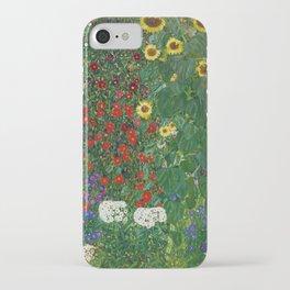 Gustav Klimt - Farm Garden With Flowers iPhone Case
