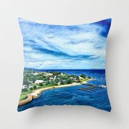 Coast Of Jamaica Throw Pillow