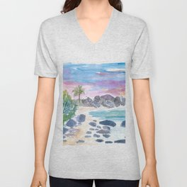 Unforgettable The Baths in Virgin Gorda BVI Unisex V-Neck