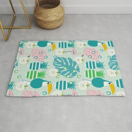 Modern tropical summer vibes Rug
