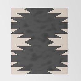Minimal Southwestern - Charcoal Throw Blanket