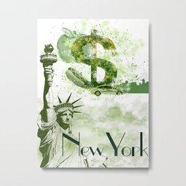 New York symbols inspired poster Metal Print