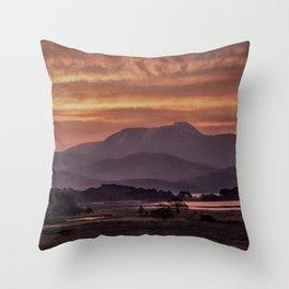 Scotland Ben Nevis mountain at sunrise Throw Pillow