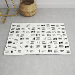Lines on Lines // Black Rug