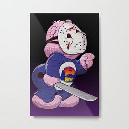 Jason Scare Bear Metal Print