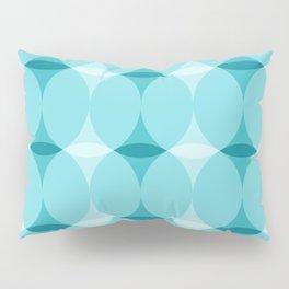 Circles and Diamonds Turquoise Pillow Sham