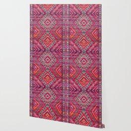 N118 - Pink Colored Oriental Traditional Bohemian Moroccan Artwork. Wallpaper