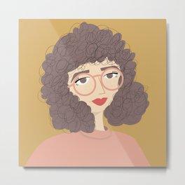 SALLY | Female Digital Illustration Metal Print