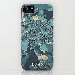 Lund, Sweden - Cream Blue iPhone Case