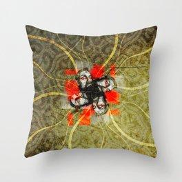 BeardFlower Throw Pillow