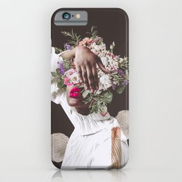Pink Shy - Digital Collage iPhone Case