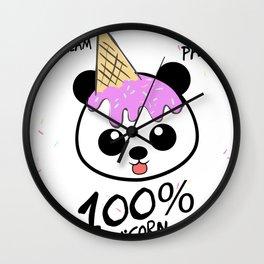 95% Panda 5% Ice Cream 100% Unicorn Funny Shirt Wall Clock