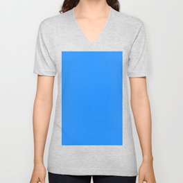 color dodger blue Unisex V-Neck