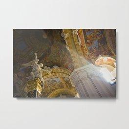 Church inside 1.2 Metal Print