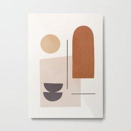 Minimal Shapes No.43 Metal Print