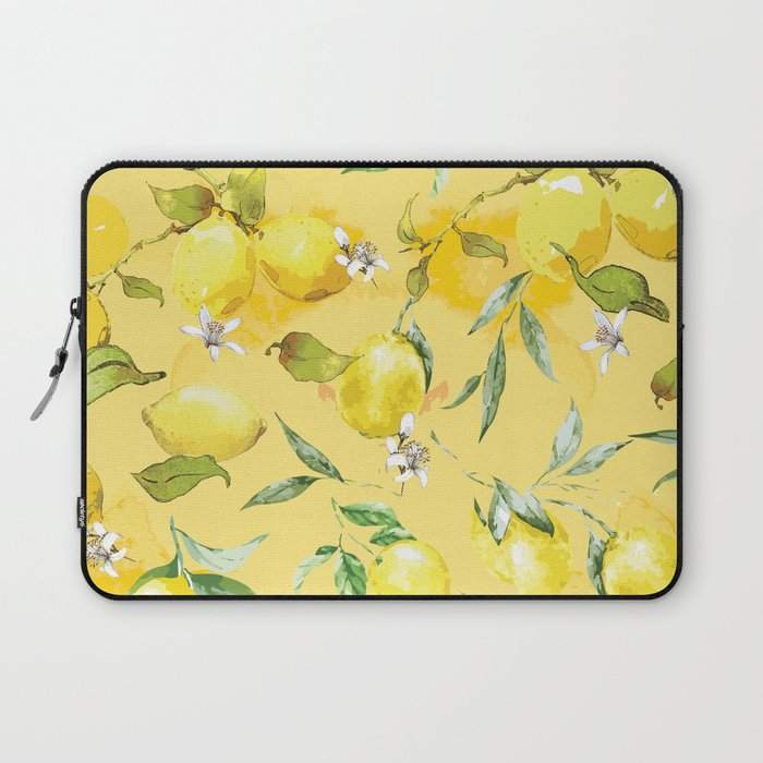 Watercolor lemons 5 Laptop Sleeve