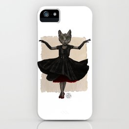 Twirling, Twirling, Couture Kitty iPhone Case