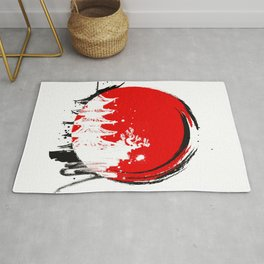 Japanese Temple at the Sun Rug