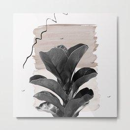 Fiddle Leaf Abstract - Naturelle #2 #minimal #wall #decor #art #society6 Metal Print