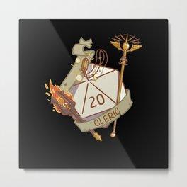 Cleric D20 fantasy Dice Metal Print