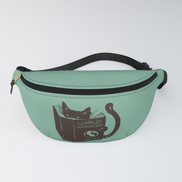 World Domination for Cats (Green) Fanny Pack