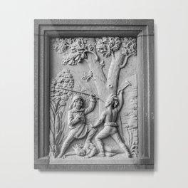 Fighting Indians - Marble Panel - Daniel Boone Grave - Kentucky Metal Print