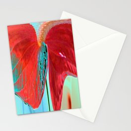 ABSTRACT FLORAL LANDSCAPE Stationery Cards