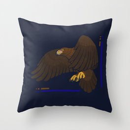 Aquila chrysaetos for wit Throw Pillow