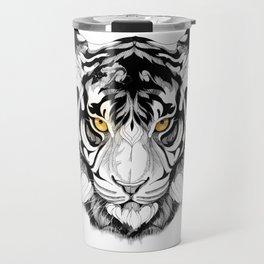 Tiger (black stroke version for t-shirts) Travel Mug