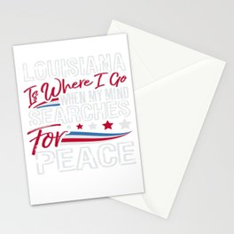 Louisiana American Patriotic Memorial Day Stationery Cards