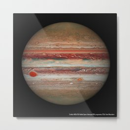 1632. Hubble's Jupiter and the Shrinking Great Red Spot  Metal Print