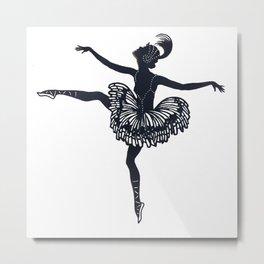 Ballerina Star Metal Print