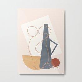 Minimal Abstract Shapes No.49 Metal Print