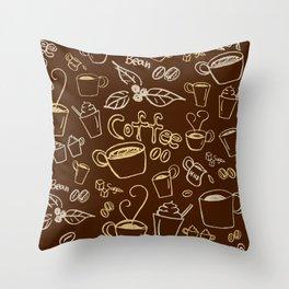 coffee illustration Throw Pillow