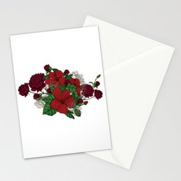 """Flower Arrangement Fall in Love Series """" The trepidation"""" Stationery Cards"""