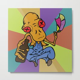 Bobo the Dunken Philosopher Metal Print