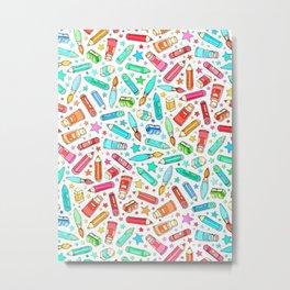 Rainbow Stationary and Art Supplies - White Metal Print