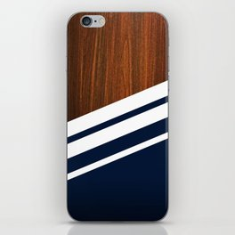 Wooden Navy iPhone Skin