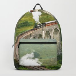 Hogwart Express steam engine in the scottish highlands Backpack