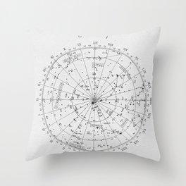 Star Map Throw Pillow