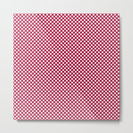 Barberry and White Polka Dots Metal Print