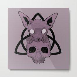 Wiccan Sphynx Metal Print