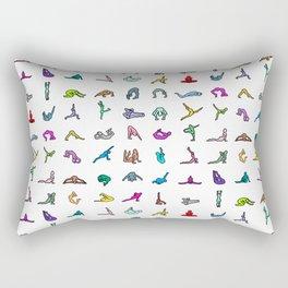 Rainbow Yoga Poses Rectangular Pillow