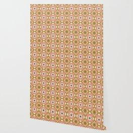Bold Midcentury Tile Pink Wallpaper