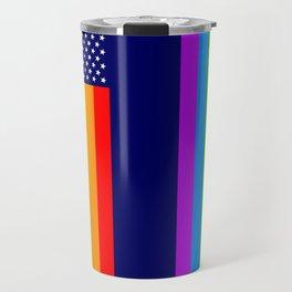 Gay USA Rainbow Flag - American LGBT Stars and Stripes Travel Mug