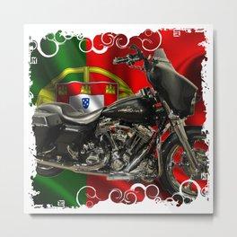 Portuguese American Motard Metal Print