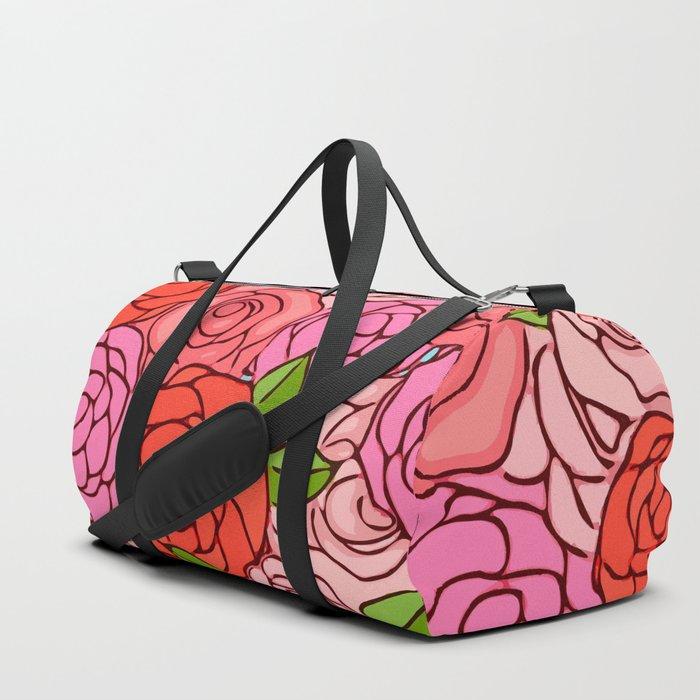 Colorful Roses Duffle Bag