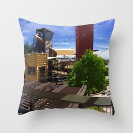 Container park Las Vegas Throw Pillow
