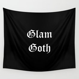 glam goth white text Wall Tapestry