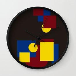 Modern geometric abstract 5 Wall Clock